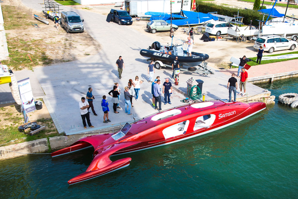 Futuristic rowing vessel to cross the Atlantic