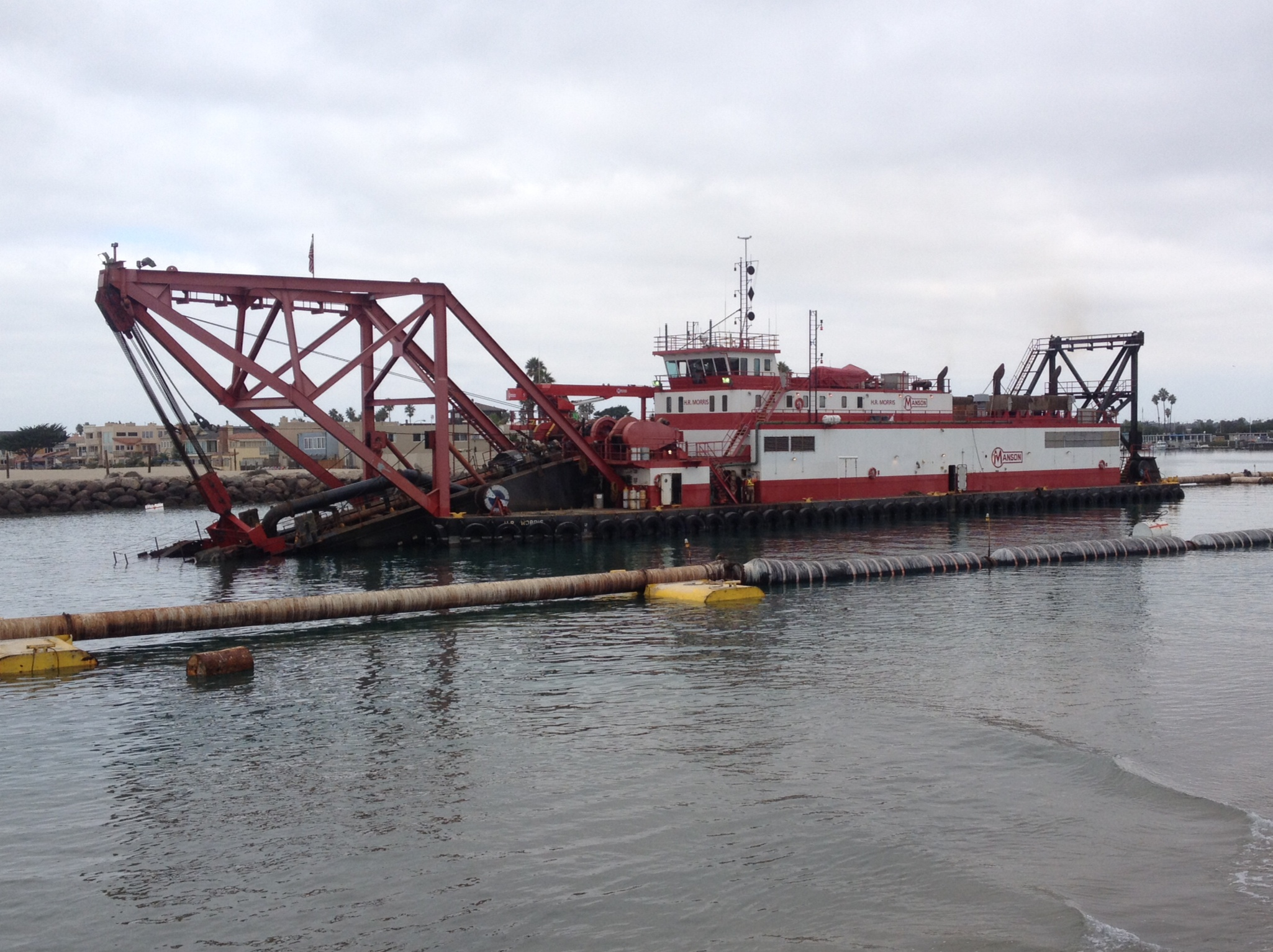 Record amount of sand being dredged at Channel Islands Harbor