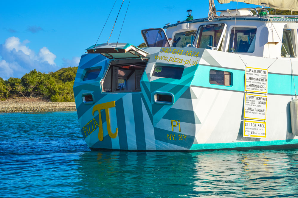 Abandoned sailboat becomes a custom food boat