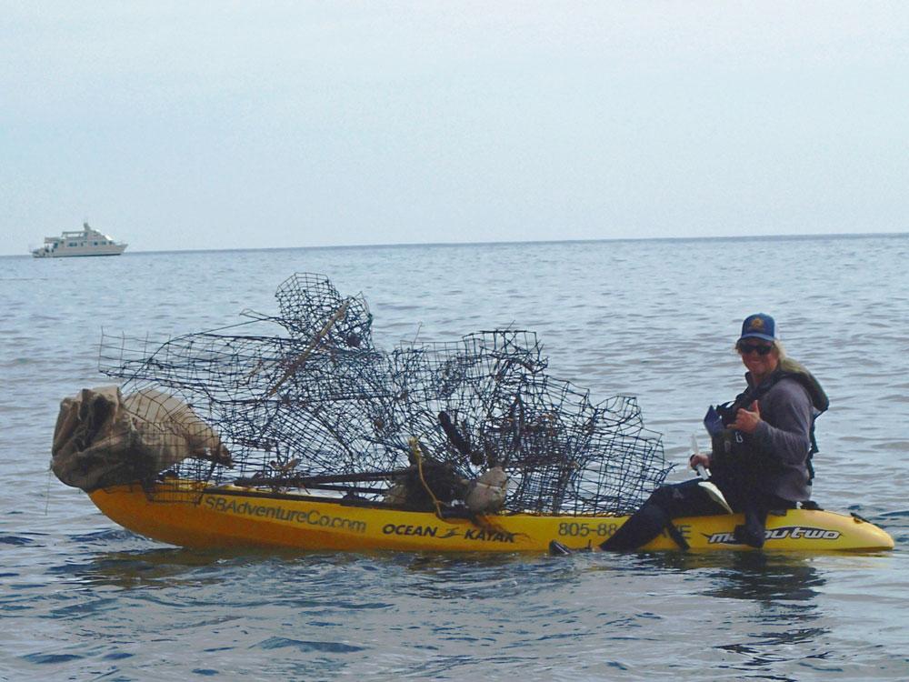 Volunteers clean up 1,300 pounds of trash from Santa Cruz Island