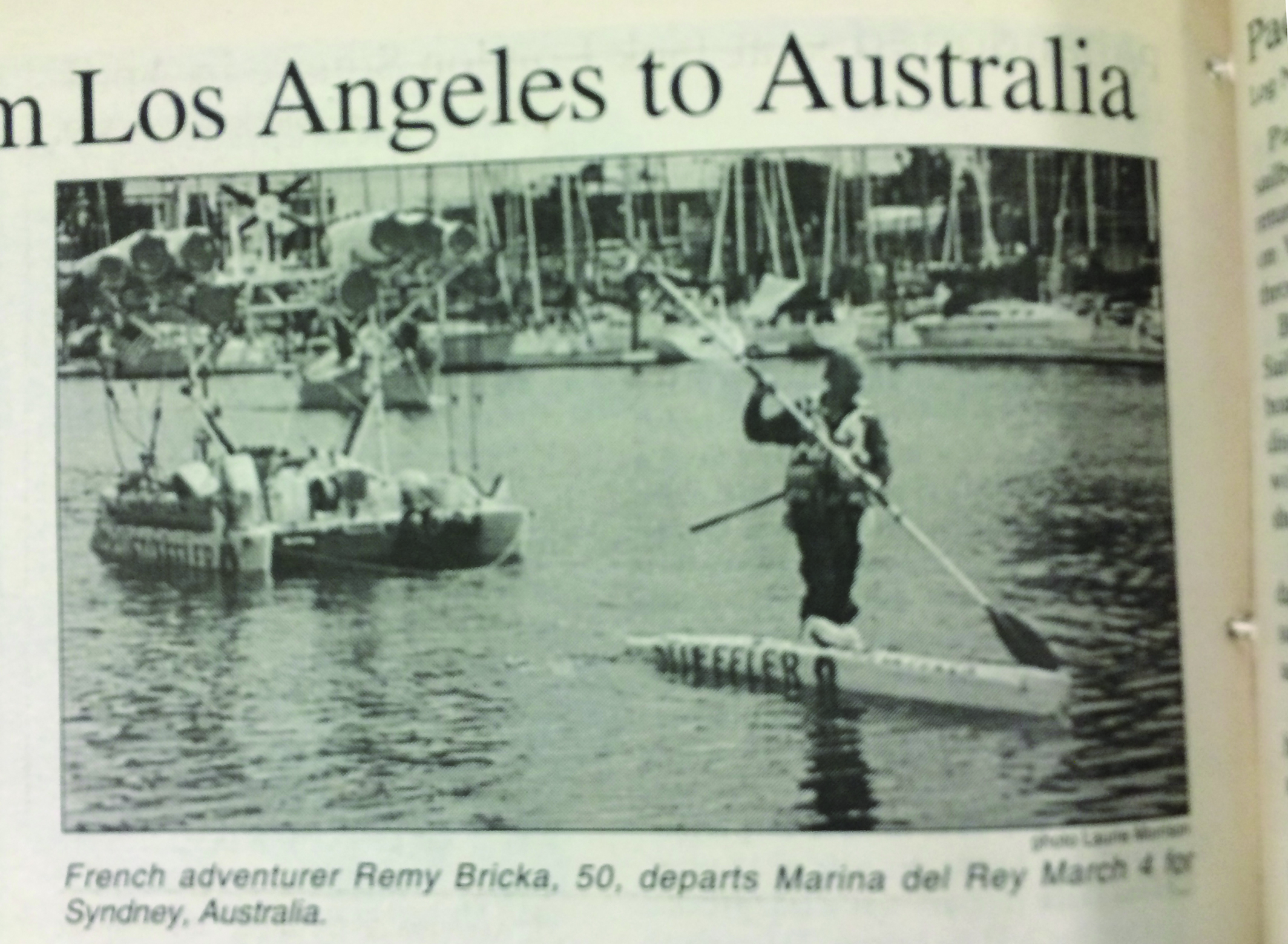 2000: Man to walk on water from Los Angeles to Australia