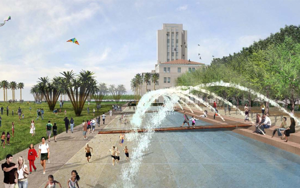New Waterfront Park transforms lot into a sprawling park