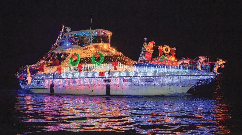 Jontika took first for Humor and Originality for the Newport Beach Christmas Boat Parade. Bleu Cotton photos.