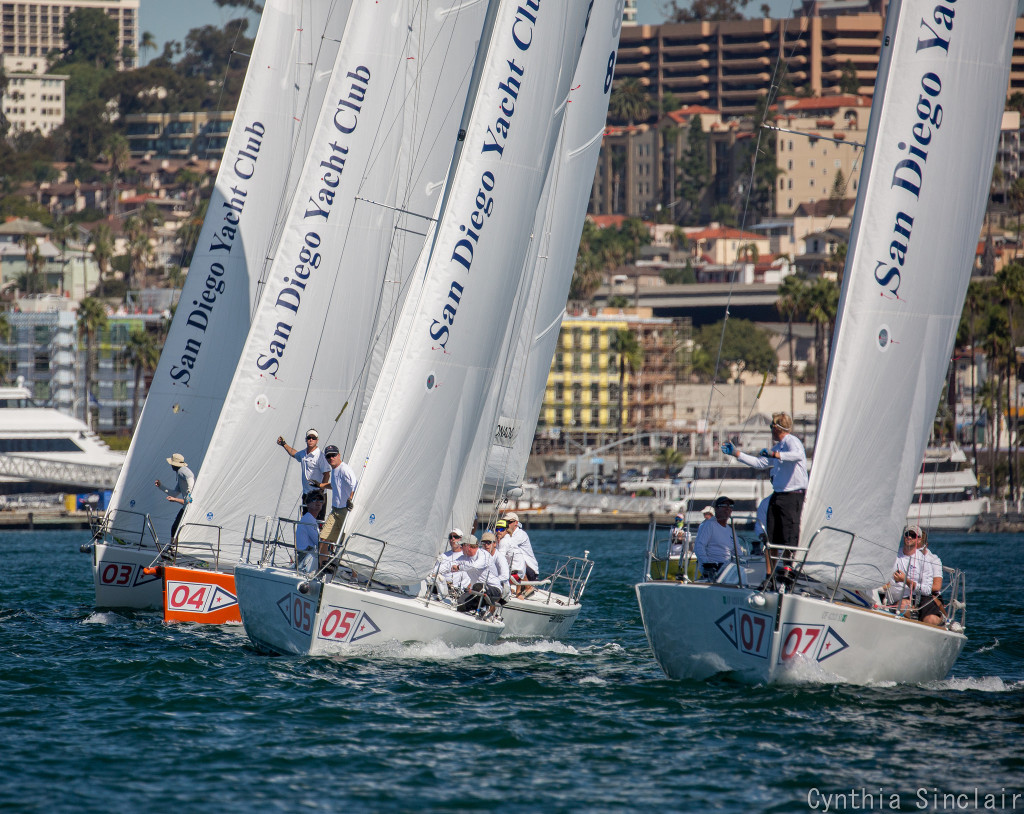 Captions 1: San Diego Yacht Club was able to bring the Lipton Cup back to Southern California after a year at St. Francis Yacht Club. The team was led by San Diego YC skipper Tyler Sinks.<br>