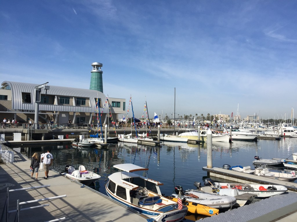 A 23-slip marina highlights Newport Beachs Marina Park; the new public park also features a nautical-themed play area, crane and views of the harbor. Parimal M. Rohit photo.