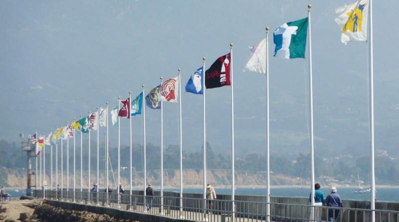 Santa Barbara breakwater flags recognize nonprofits, aid sailors
