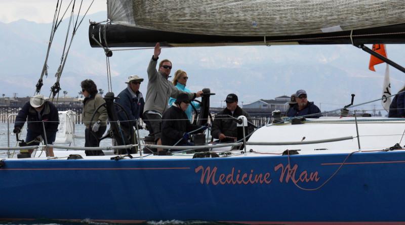 Meier drives Medicine Man to win in light-air pursuit race