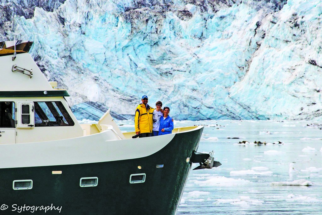 Randy Sysol, a liveaboard in Pier 32 Marina in National City, says living aboard a boat gives him and his family an opportunity to travel. Here is Sysol and his family aboard their liveaboard during a recent trip to Glacier Bay in Alaska. Gale Plummer photo