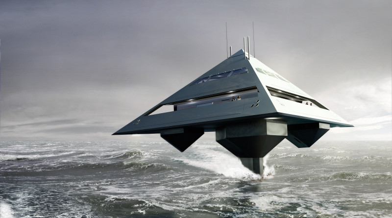 Flying superyacht pyramid closer to getting off the ground