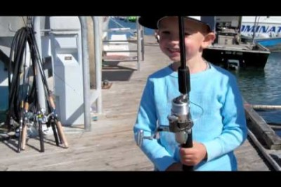 Day at the Docks, Trey Arnold's First Fish!
