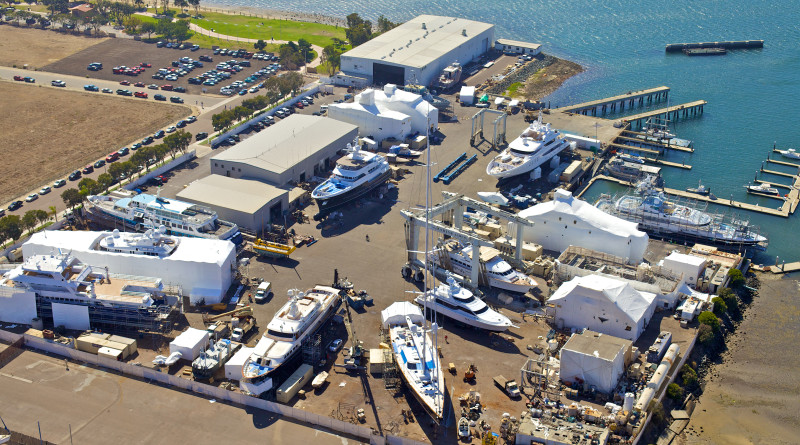 Repairing Navy ships is now part of the services offered by Marine Group Boat Works shipyards located in Chula Vista (pictured), National City and San Jose del Cabo.  Photo courtesy of Marine Group