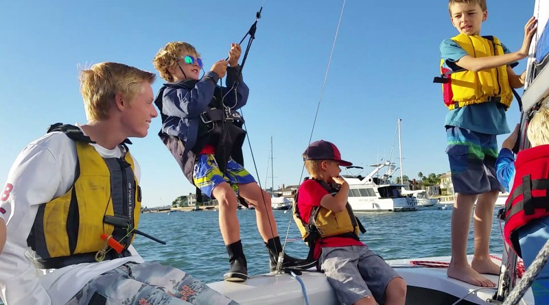 Kids will spend time both on and off the water learning a whole host of sailing skills during the summer program.