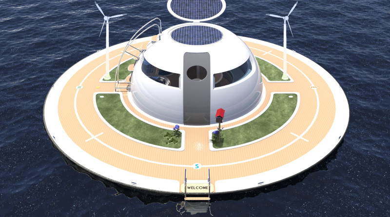 The UFO floating home was designed for the consummate boater who prefers living life on the water.  Jet Capsule photo