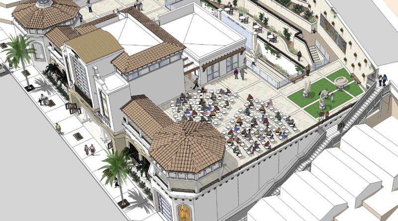 Architectural rendering of a bird's-eye view of the museum's new Ada Blanche Wrigley Schreiner Building.  Courtesy of the Catalina Island Museum