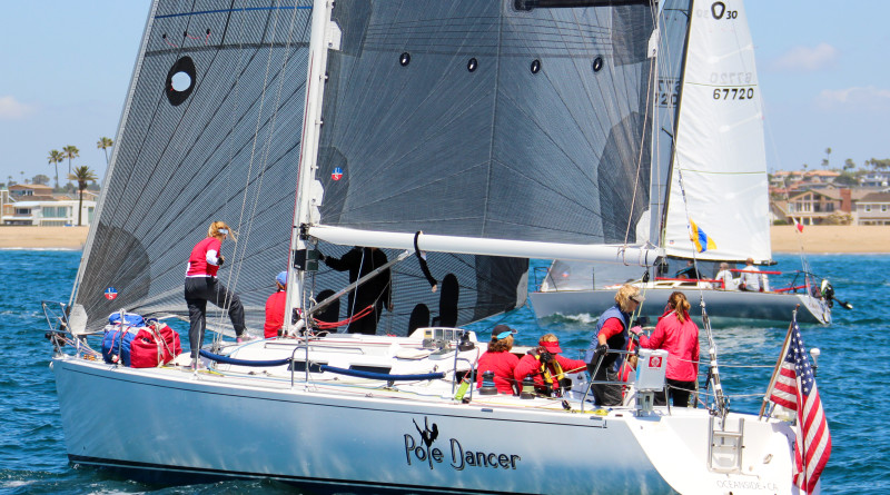 Pole Dancer, owned by Terri Manok, will once again participate in the annual Women 4 Women Regatta held outside Oceanside Harbor. The boat with its all gal crew recently sailed in the Newport to Ensenada race. Joysailing photo
