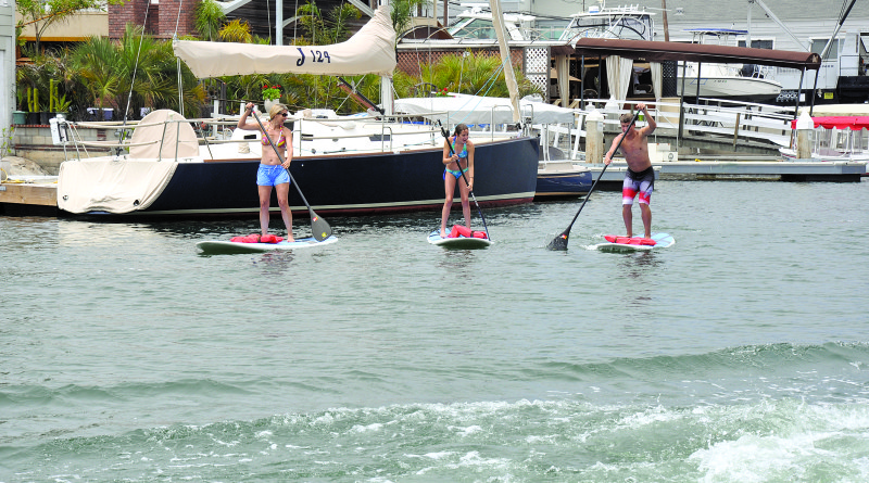 Standup paddleboards will not be prohibited from paddling in Oceanside Harbor's main entrance or channel if city officials approve the reversal of a ban against human powered watercraft in the harbor.
