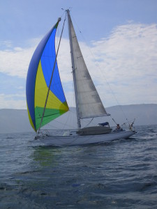 Will Yount races his vessel, Salty Goat, in the annual Smuggler's Bash hosted by Ventura Sailing Club. Will Yount photo
