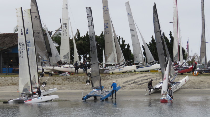 Mission Bay Yacht Club recently hosted Cat Fight 2, the largest gathering of high-performance catamarans on the West Coast.Photo courtesy of Melody Le Patourel