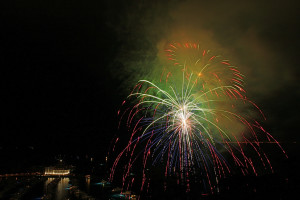 Cruisers can watch Catalina's annual firework show from the comfort of their boat deck.Wayne Griffin photo