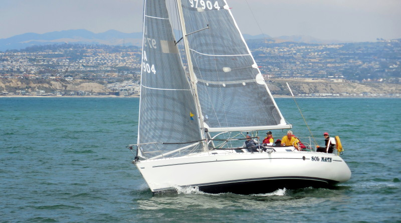Sol Mate races in Dana West Yacht Club's Charity Regatta. The crew took home third in the PHRF B race category.Photo courtesy of Dana West Yacht Club