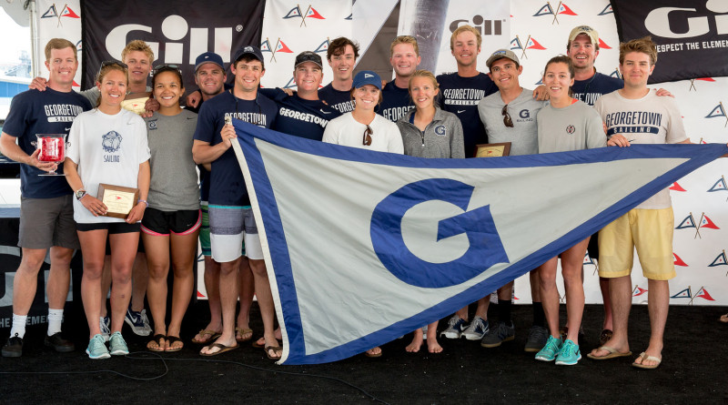 Georgetown sailors pose for a photo after the Gill Coed National Championships held in San Diego.