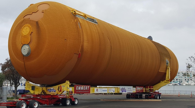 NASA's space shuttle external tank (ET-94) made its way from New Orleans to California on the barge, Shannon Dann.Mike Werling photo