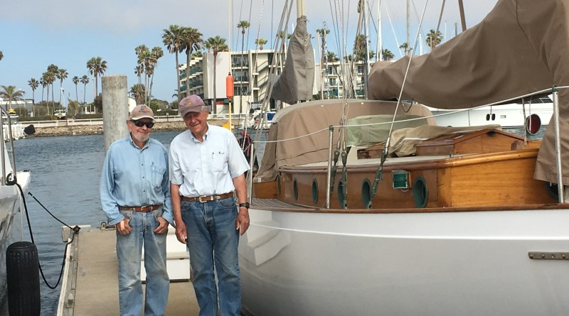 Walter Russakoff (left) and longtime sailing partner and friend, Dick McNish (right), have no plans to ease off their time at the helm when they celebrate their 90th birthdays in 2017. Catherine French photo