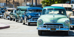 Classic cars will be on display at the Los Angeles waterfront during Cars and Stripes Forever.Photo courtesy of the Port of L.A.