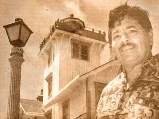 Julian in the 1980s at the lighthouse