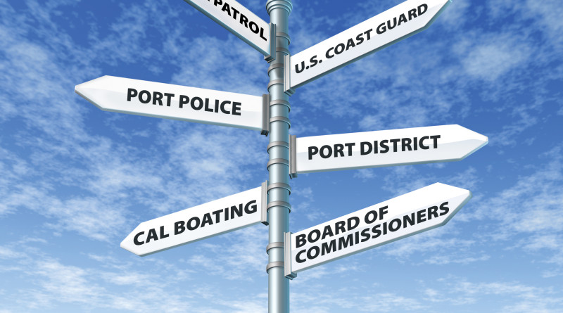 Who's in charge? Harbors, marinas and ports are always subject to overlapping jurisdictions of local, state and federal agencies.