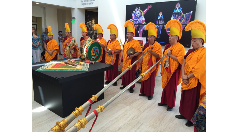 Buddhist monks helped christen the new Catalina Island Museum with a spiritual exhibition. Parimal M. Rohit photo