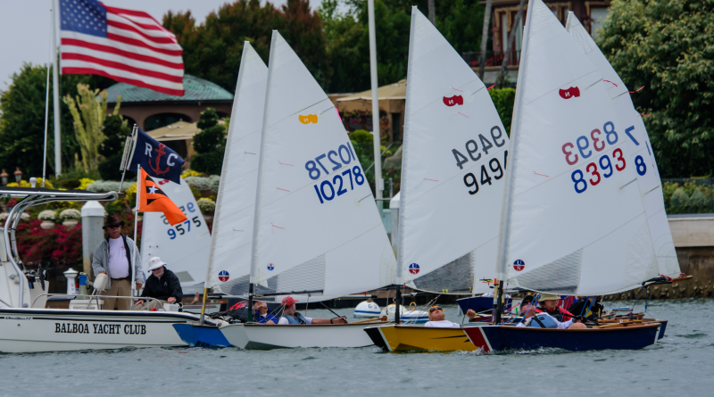 Racers from 10 yacht clubs traveled to Newport Beach to participate in the annual Senior and Masters Sabot Nationals. Photography by Tom Walker