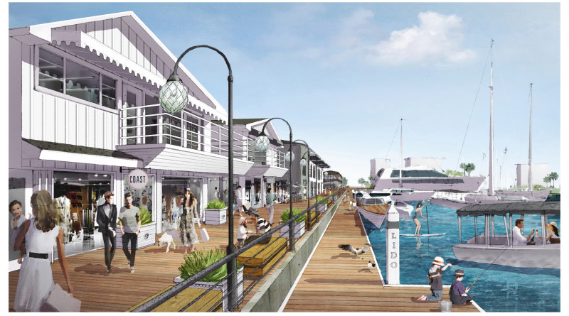 DJM Capital plans to revamp the dilapidated Lido Marina Village with a new marina, upscale restaurants and retail stores. The first phase of the project is on schedule to be completed by the end of July.DJM Capital courtesy photo