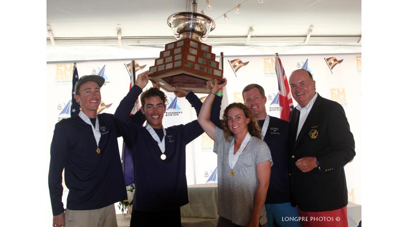 The San Diego Yacht Club team with the Gov Cup. Longpre photos