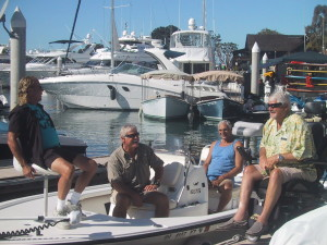 As dockmaster Ken Guyer regularly interacted with boaters on the docks.Ken Guyer photo