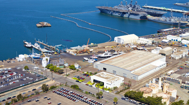 Marine Group Boat Works' shipyards located in Chula Vista (pictured), National City and San Jose del Cabo provide impound services for vessels abandoned in San Diego Bay.Photo courtesy of Marine Group