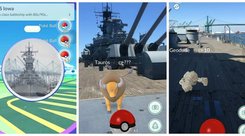 Guests can capture Pokémon while aboard USS Iowa.