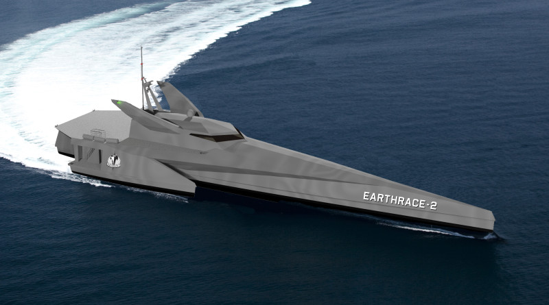Earthrace, a 195-foot trimaran will be constructed in 2017.