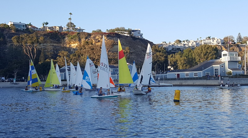 Young sailors competed in the last race of the seven-series Dana Point Harbor, Youth Soda-Pop Sailing Race in August. A total of 28 racers sailed in the final race.Photo courtesy of Westwind Sailing