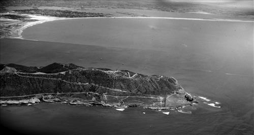 An aerial view of the Cabrillo National Monument taken during a National Survey of Historic Sites and Buildings.National Park Service photo