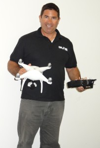 Jay Bernstein, drone pilot and instructor, aerial photographer, yacht broker and yacht captain, holds two drones, including the white DJI Phantom 4 on left, which he recommends as a good choice for using on boats because of its excellent stability, strong GPS function and ease of flying.Capt. Nicole Sours Larson photo