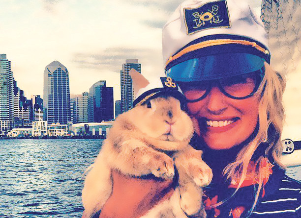 Benny Bunny and Amanda liveaboard