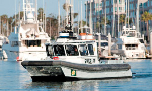 Marina del Rey sheriff patrolling the harbor