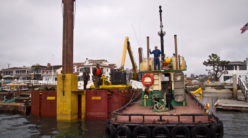 Grand Canal Dredge in Newport Beach photo by Nina