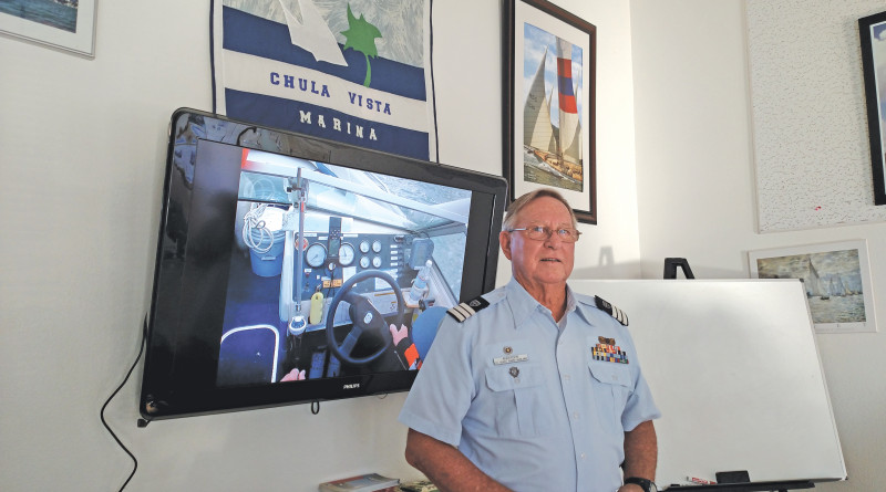 U.S. Coast Guard Auxiliary Flotilla Staff Officer for Public Education Bill Andersen teaches boating safety classes at the Chula Vista Marina and Southwestern Yacht Club.