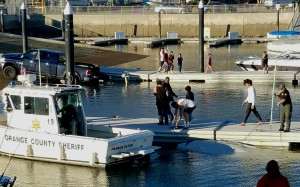Submerged Vessel in Dana Point Harbor