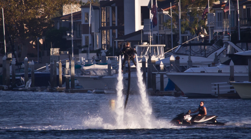 Jetpack in Newport Beach Harbor