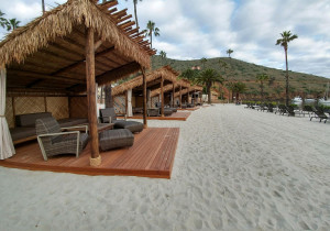 Palapa on the beach of Harbor Sands at Two Harbors in Catalina Island