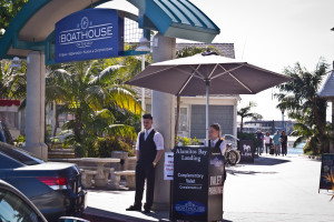 Boathouse on the Bay valet at Alamitos Bay Landing