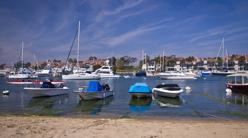 Moorings in Balboa Island in Newport Beach